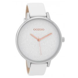 Oozoo C9590 Ladies' Watch with Leather Strap White 44 mm