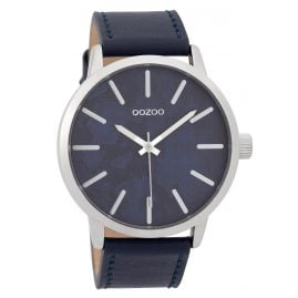 Oozoo C9602 Herrenuhr 45 mm Paint-Look-Zifferblatt Blau