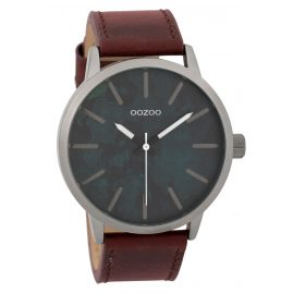 Oozoo C9603 Men's Watch 45 mm Paint Look Dial Grey/Red