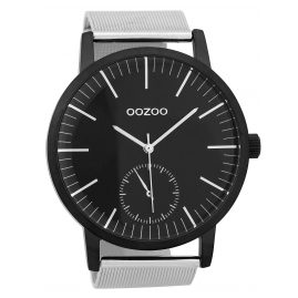 Oozoo C9624 Herrenuhr 48 mm Schwarz/Silberfarben