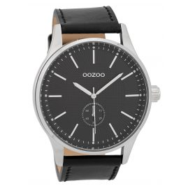 Oozoo C9639 Men's Watch Leather Strap Black 48 mm