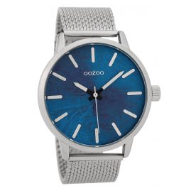 Oozoo C9656 Men's Watch Blue/Silver 45 mm