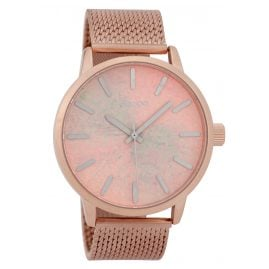 Oozoo C9658 Herrenuhr mit Paint-Look-Zifferblatt Rosé 45 mm
