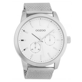 Oozoo C9661 Men's Watch White/Silver 47 mm