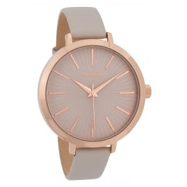 Oozoo C9670 Ladies' Watch with Leather Strap 42 mm Rose/Beige