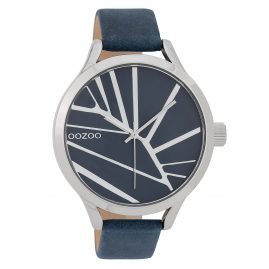 Oozoo C9681 Ladies' Watch with Leather Strap 43 mm Blue