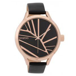 Oozoo C9684 Damenuhr mit Design-Zifferblatt 43 mm Schwarz