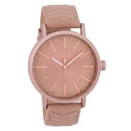 Oozoo C9691 Ladies' Watch with Leather Strap Powder-Pink 42 mm