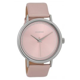 Oozoo C9705 Ladies' Watch with Leather Strap Pink 42 mm