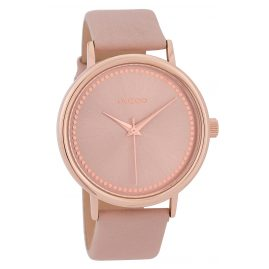 Oozoo C9706 Ladies' Watch ith Leather Strap Grey-Pink 42 mm