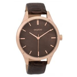 Oozoo C9723 Ladies' Watch with Leather Strap Brown 42 mm