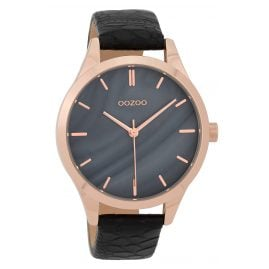 Oozoo C9724 Ladies' Watch with Leather Strap Grey/Black 42 mm