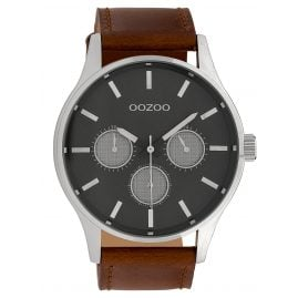 Oozoo C10046 Men's Watch Grey/Brown 48 mm