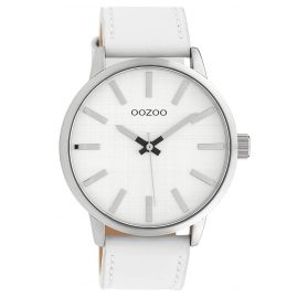 Oozoo C10030 Watch Silver-Tone/White 45 mm