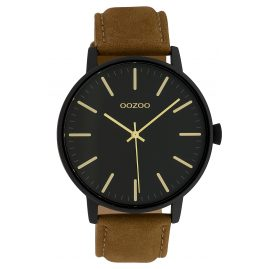 Oozoo C10042 Damenuhr Schwarz/Braun 42 mm