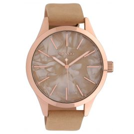 Oozoo C10070 Ladies' Watch Mother-of-Pearl/Beige 45 mm