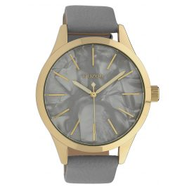 Oozoo C10071 Ladies' Watch Mother-of-Pearl/Light Grey 45 mm