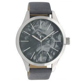 Oozoo C10074 Ladies' Watch Mother-of-Pearl/Grey 45 mm