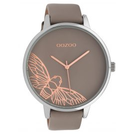 Oozoo C10077 Ladies' Wristwatch Dragonfly Taupe 48 mm
