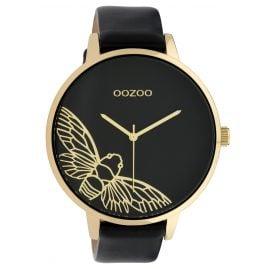 Oozoo C10079 Damenuhr Libelle Schwarz 48 mm