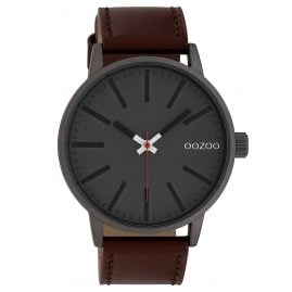 Oozoo C10011 Watch Anthracite/Brown 45 mm