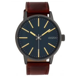 Oozoo C10012 Watch Dark Green/Brown 45 mm