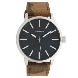 Oozoo C10001 Unisex Watch Camouflage Grey/Brown 45 mm