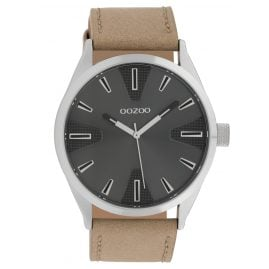 Oozoo C10021 Watch Dark Grey/Beige 45 mm