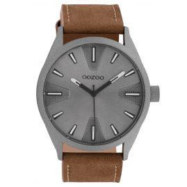 Oozoo C10022 Armbanduhr Dunkelgrau/Braun 45 mm