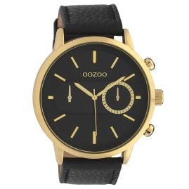 Oozoo C10069 Men´s Wristwatch Gold-Tone/Black 49 mm