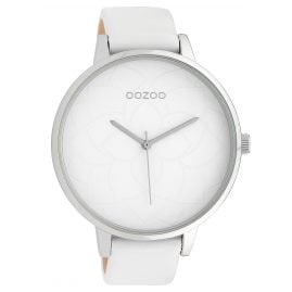 Oozoo C10100 Ladies´ Wristwatch Silver-Tone/White 48 mm