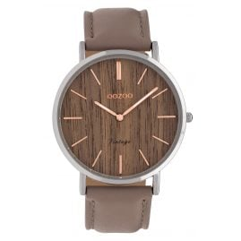 Oozoo C9867 Ladies' Watch with Leather Strap Brown 40 mm