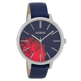 Oozoo C9744 Ladies' Watch with Leather Strap Dark Blue 42 mm