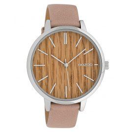 Oozoo C9746 Ladies' Watch Timepieces Soft Pink/Wood 42 mm