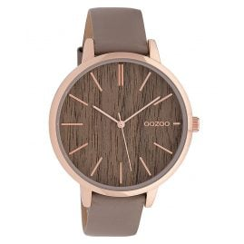Oozoo C9748 Ladies' Wristwatch Taupe/Wood 42 mm