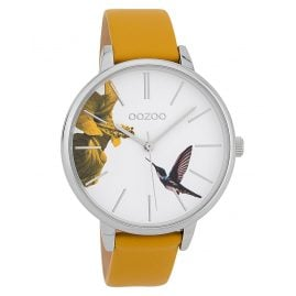 Oozoo C9761 Ladies' Watch Hummingbird Mustard Yellow/White 42 mm