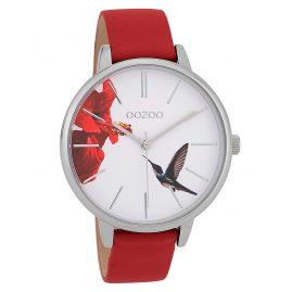 Oozoo C9762 Damenuhr Kolibri Rot/Weiß 42 mm