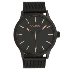 Oozoo C10058 Wristwatch with Mesh Band Black 45 mm