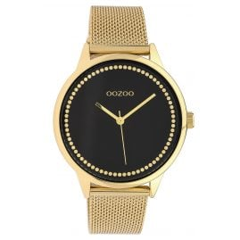 Oozoo C10093 Ladies' Watch with Mesh Bracelet Black/Gold-Tone 40 mm