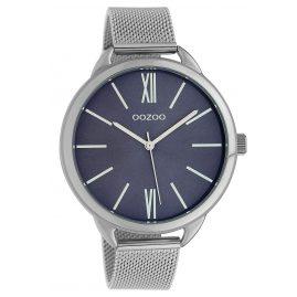 Oozoo C10137 Armbanduhr Dunkelblau/Silber 45 mm