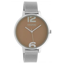 Oozoo C10140 Wristwatch Light Brown/Silver 42 mm
