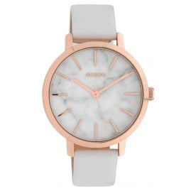 Oozoo C10110 Ladies' Watch with Leather Strap Marble/White 38 mm