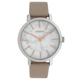 Oozoo C10112 Ladies' Watch with Leather Strap White/Beige 38 mm
