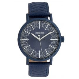 Oozoo C10147 Ladies' Watch Leather Strap Blue 42 mm