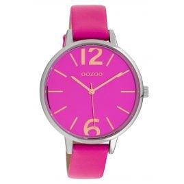 Oozoo C10154 Women's Watch Leather Strap Fuchsia 40 mm