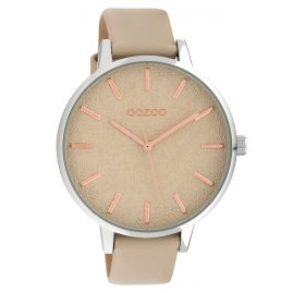 Oozoo C10158 Women's Watch Leather Strap Sand 45 mm