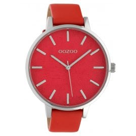 Oozoo C10160 Women's Watch Leather Strap Red 45 mm