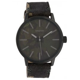 Oozoo C10004 Unisex Watch Camouflage Dark Green 45 mm