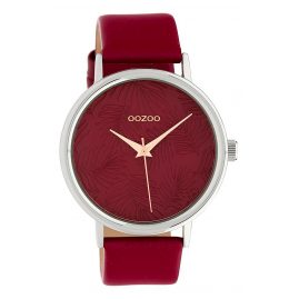 Oozoo C10164 Ladies' Watch with Leather Strap burgundy 42 mm