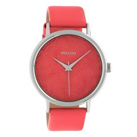 Oozoo C10166 Ladies' Watch with Leather Strap Red 42 mm